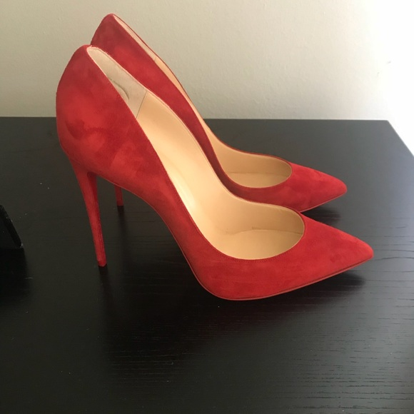 the latest 9e7fd a089b Christian Louboutin Suede Pigalle Follies Red 41.5 NWT